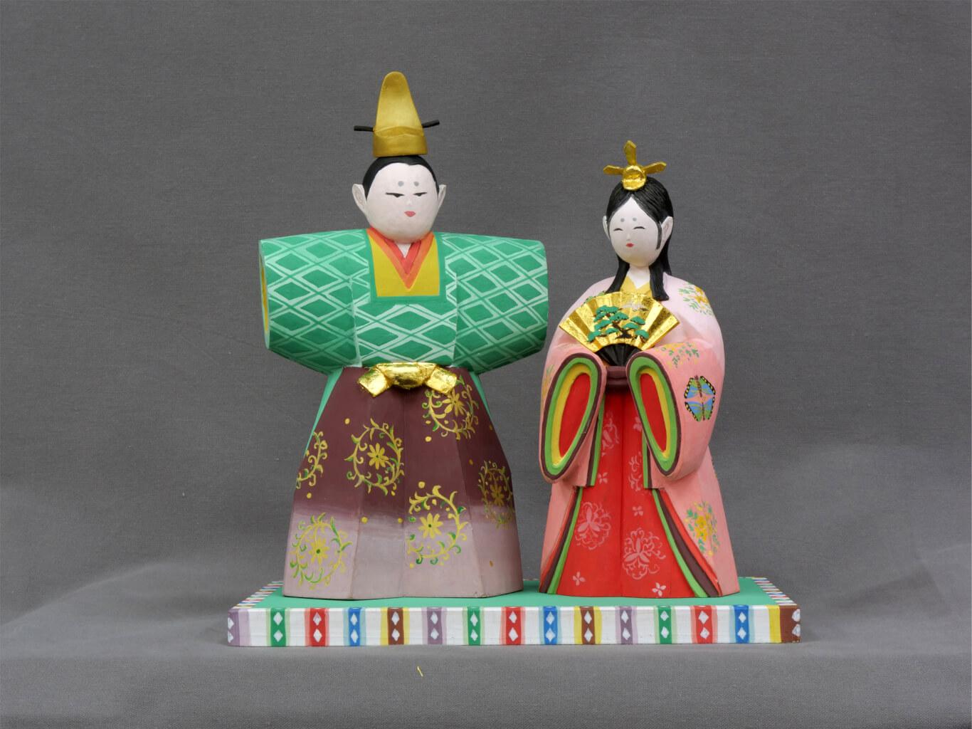 ひな人形制作(木彫・彩色)