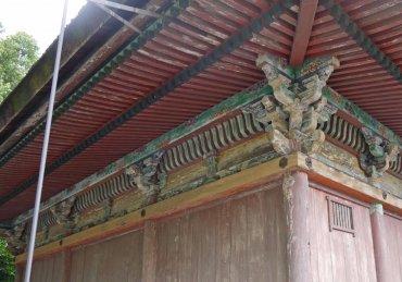 聖神社本殿 背面 修理前